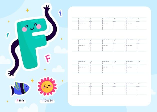 Modelo de planilha letra f