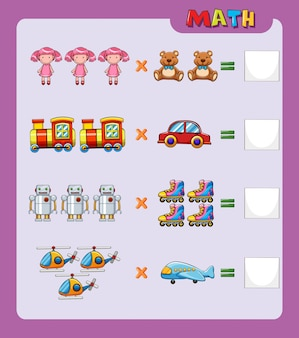 Modelo de planilha para fácil multiplicação