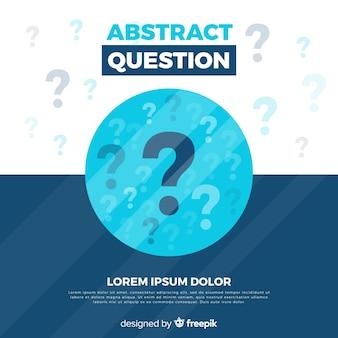 Modelo de plano de fundo abstrato pergunta