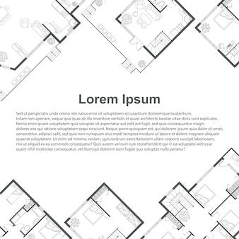 Modelo de plano de fundo arquitetônico.