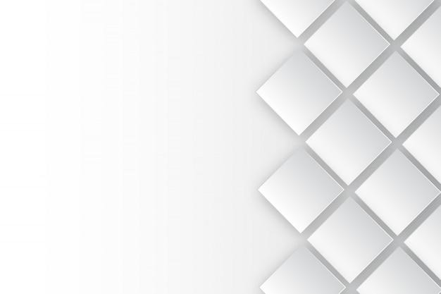 Modelo de plano de fundo branco retangular