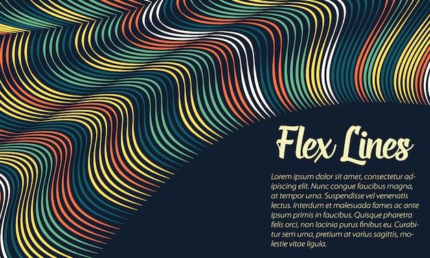 Modelo de plano de fundo colorido linhas onduladas