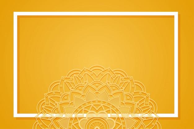 Modelo de plano de fundo com desenhos de mandala