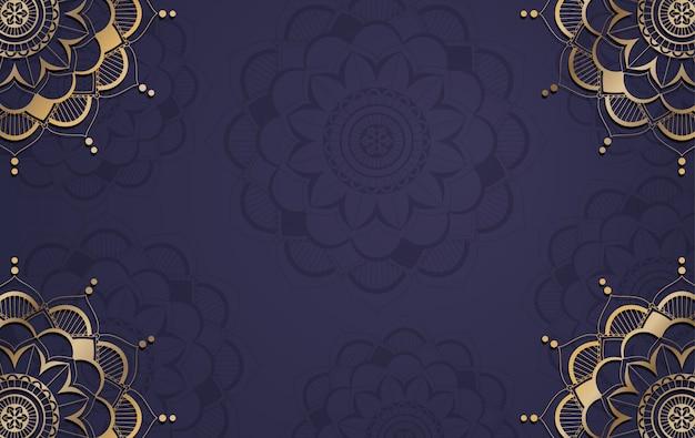 Modelo de plano de fundo com design padrão de mandala