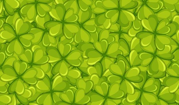 Modelo de plano de fundo com folhas verdes