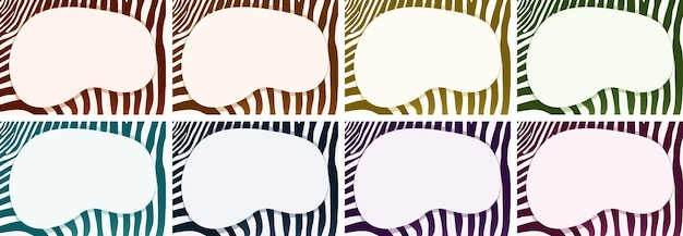 Modelo de plano de fundo com padrões de zebra e moldura