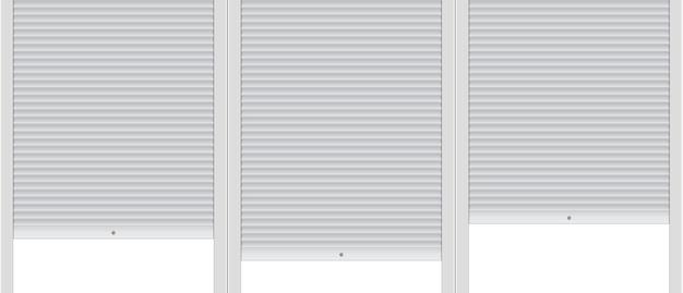 Modelo de plano de fundo com persianas cobertas.