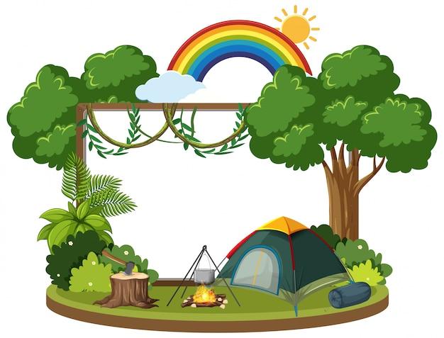 Modelo de plano de fundo com tema de acampamento
