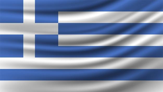 Modelo de plano de fundo da bandeira da grécia.