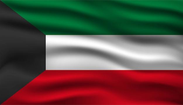 Modelo de plano de fundo da bandeira do kuwait.