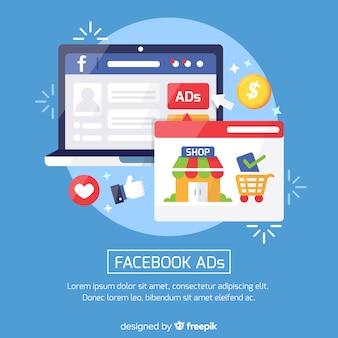 Modelo de plano de fundo de anúncios do facebook