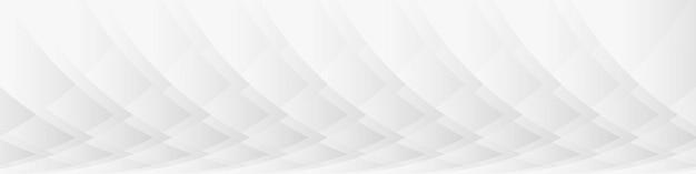 Modelo de plano de fundo de apresentação de banner largo de padrão abstrato branco
