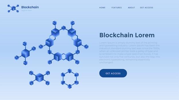 Modelo de plano de fundo de blockchain. finanças e dinheiro digital.
