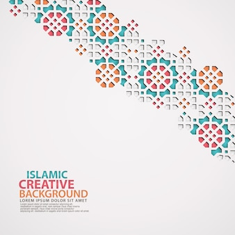 Modelo de plano de fundo de cartão de design islâmico
