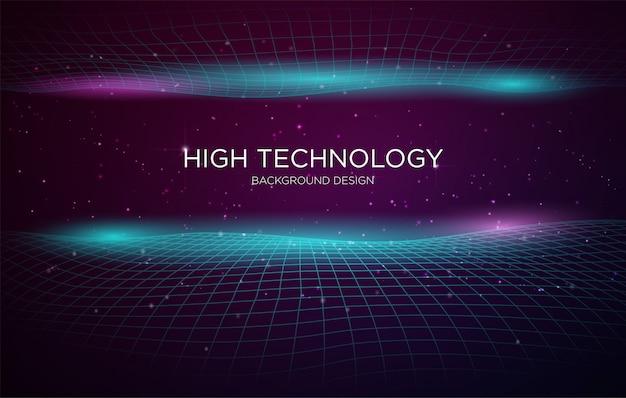 Modelo de plano de fundo de cobertura de alta tecnologia