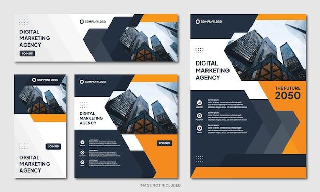 Modelo de plano de fundo de design de brochura corporativa moderno criativo e mídia social pós banner instagram