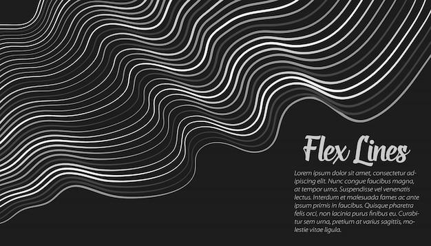 Modelo de plano de fundo de linhas deformadas