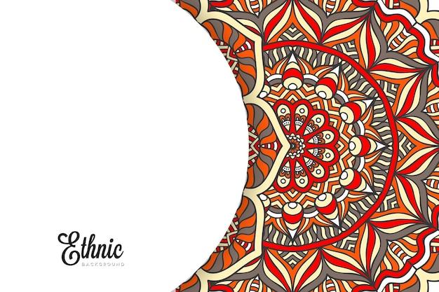Modelo de plano de fundo de mandala colorida