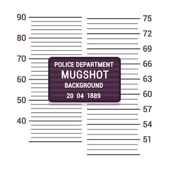 Modelo de plano de fundo de mugshot