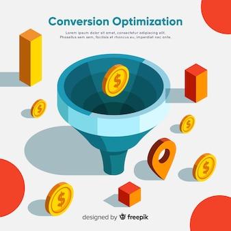 Modelo de plano de fundo de otimização de marketing