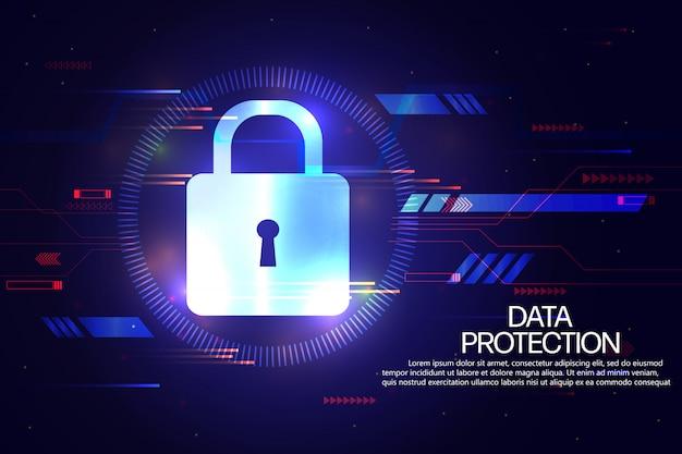 Modelo de plano de fundo de proteção e seguro de dados