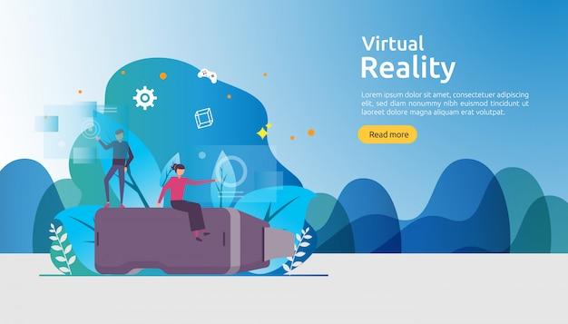 Modelo de plano de fundo de realidade aumentada virtual