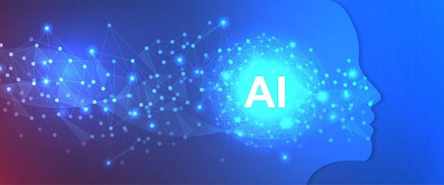 Modelo de plano de fundo de tecnologia de inteligência artificial