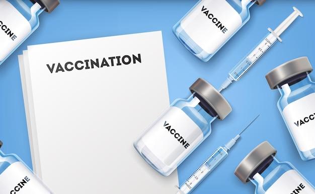 Modelo de plano de fundo de vacinação.