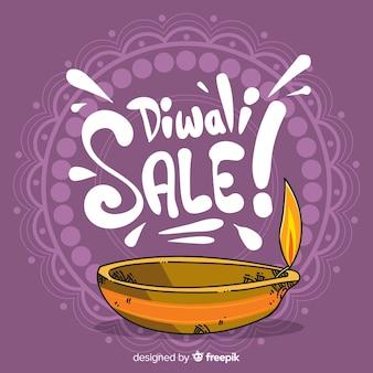 Modelo de plano de fundo de venda de diwali