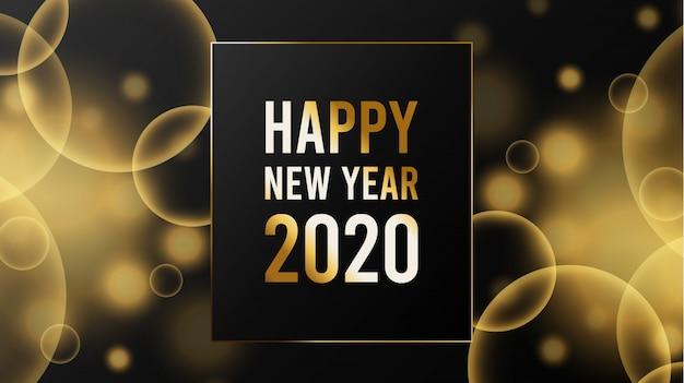 Modelo de plano de fundo desfocado ano novo 2020