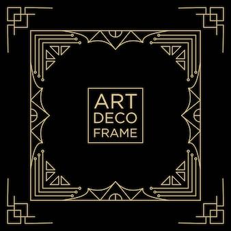 Modelo de plano de fundo do art deco frame design
