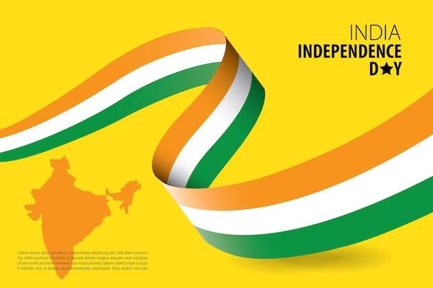 Modelo de plano de fundo do dia da independência da índia