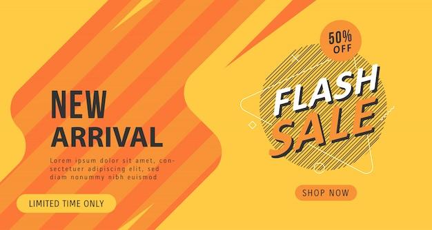 Modelo de plano de fundo do flash venda desconto banner