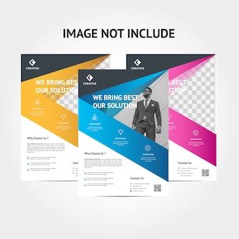 Modelo de plano de fundo do folheto corporativo criativo