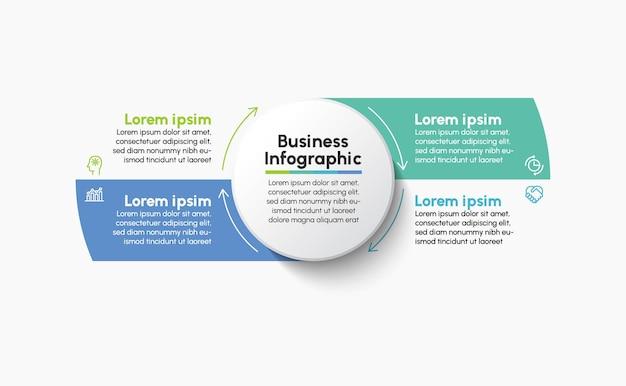 Modelo de plano de fundo do infográfico de ciclo de negócios