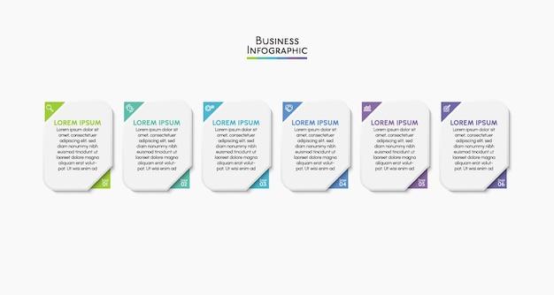 Modelo de plano de fundo do infográfico de visualização de dados empresariais