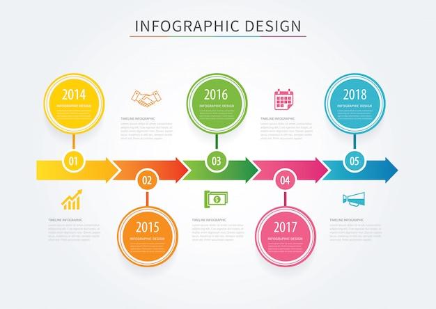 Modelo de plano de fundo do negócio setas cronograma infográfico