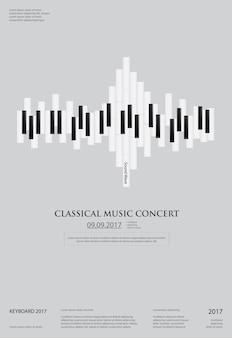 Modelo de plano de fundo do piano de cauda de música