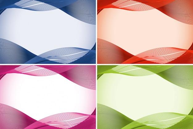 Modelo de plano de fundo em quatro cores
