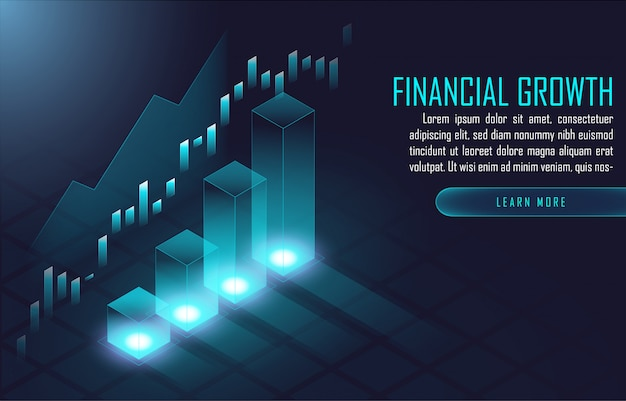 Modelo de plano de fundo financeiro