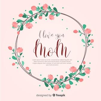 Modelo de plano de fundo floral do dia das mães