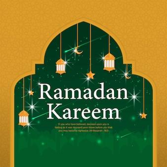 Modelo de plano de fundo islâmico de ramadan kareem