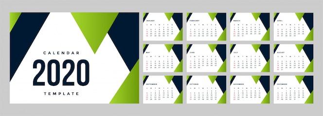 Modelo de plano de fundo moderno calendário corporativo