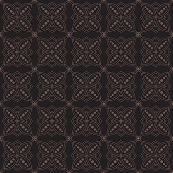Modelo de plano de fundo padrão geométrico indonésia batik sem costura