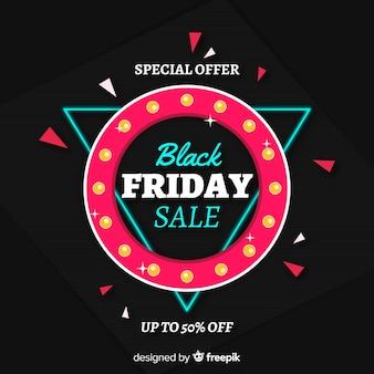 Modelo de plano de fundo preto vendas sexta-feira