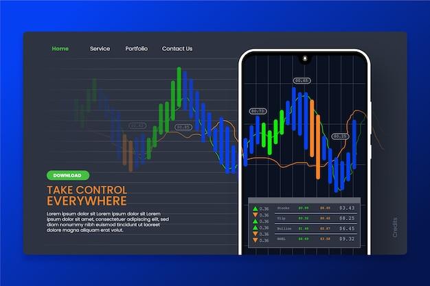 Modelo de plataforma de bolsa de valores