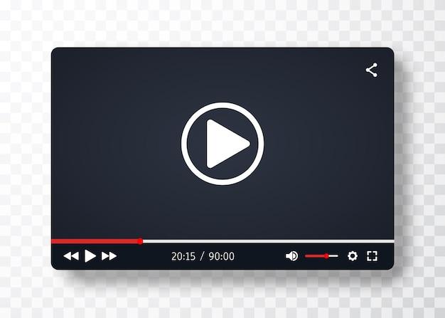 Modelo de player de vídeo para aplicativos da web ou móveis.