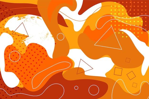 Modelo de pop art abstrato de cor laranja
