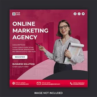 Modelo de pós-design de marketing digital e mídia social corporativa moderna