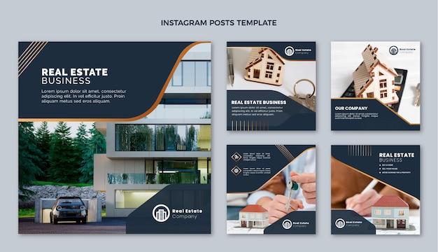 Modelo de post de instagram de imóveis com gradiente